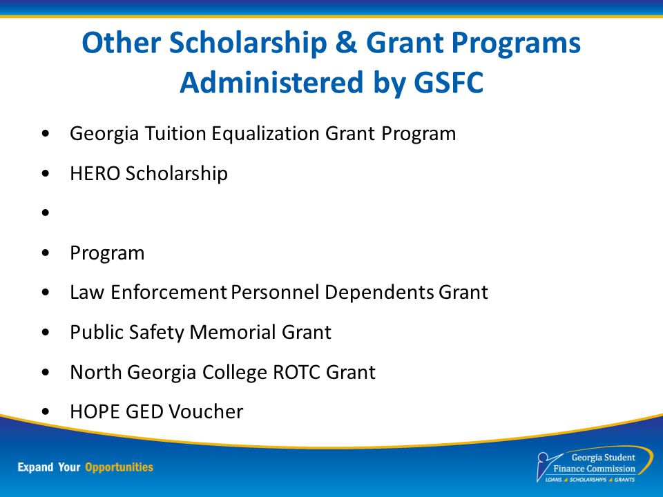 Financial Aid Based on Need Federal Pell Grant Federal Supplemental Education Opportunity Grant (FSEOG) Leveraging Educational Assistance Partnership