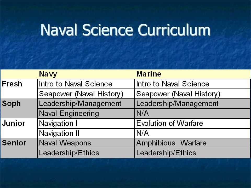 Naval Science Curriculum