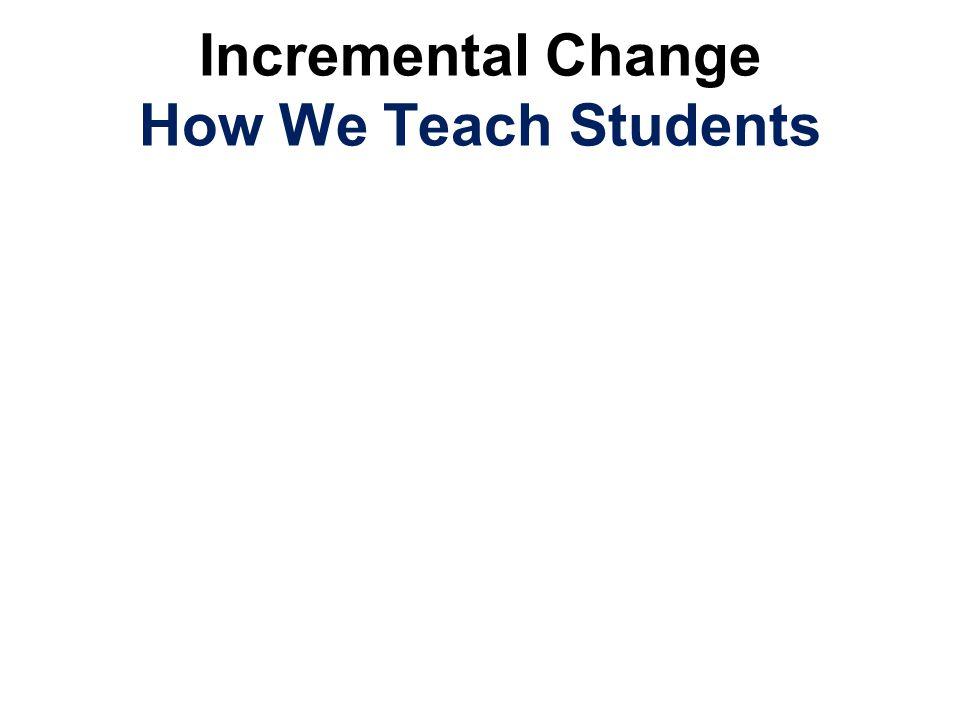 Incremental Change How We Teach Students