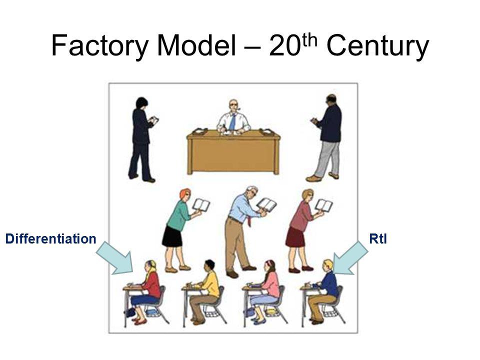 Factory Model – 20 th Century DifferentiationRtI