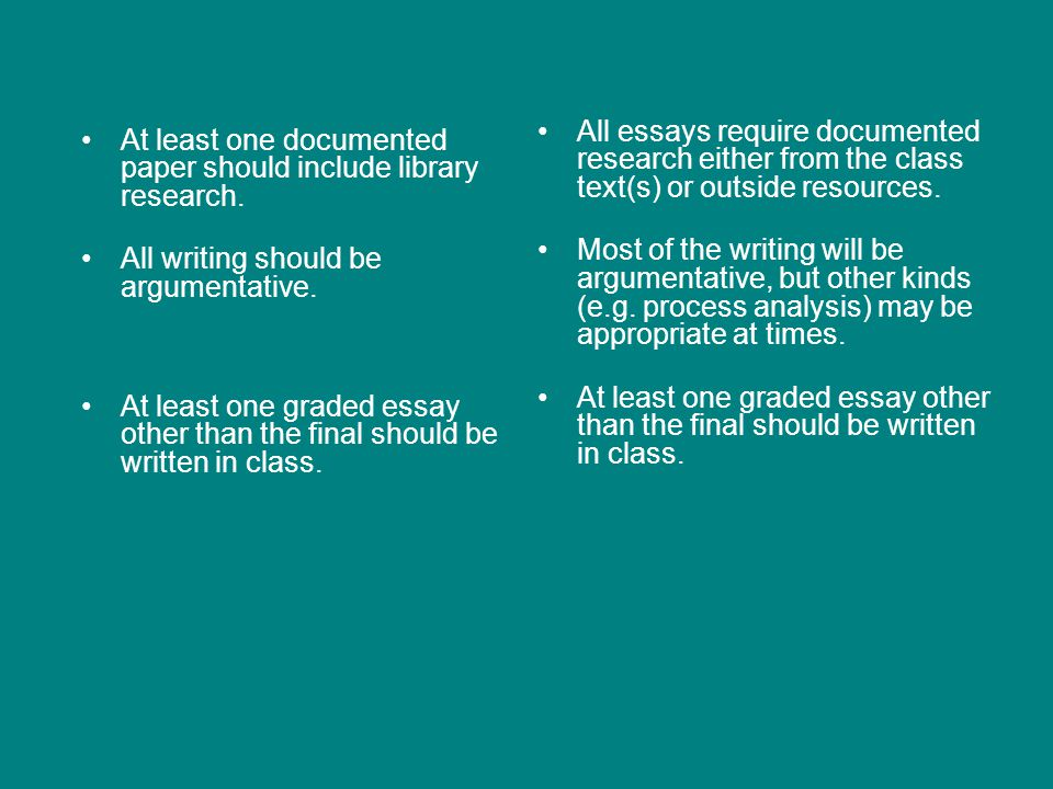 Nuts and Bolts of Differences WRIT 102 At least 4500 words of graded writing Either one long research paper and at least five other graded essays or two shorter research papers and at least four other graded essays Completely revised essays may count as separate papers CRTW 201 At least 6000 words of graded writing At least four graded essays, one of which will be a long (8-10 page) documented research paper; one could be a group project Opportunities to revise are encouraged as a course goal
