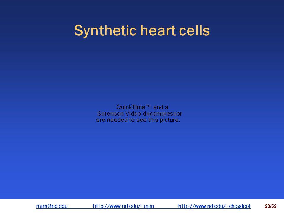mjm@nd.eduhttp://www.nd.edu/~mjmhttp://www.nd.edu/~chegdepthttp://www.nd.edu/~mjmhttp://www.nd.edu/~chegdept 22/52 Synthetic heart cells