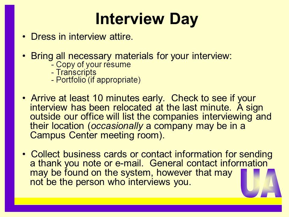 Interview Day Dress in interview attire.