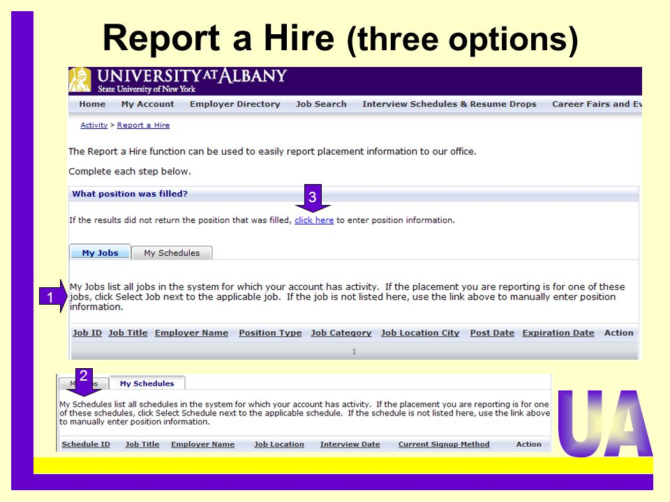 Report a Hire (three options)......................................... 1 2 3