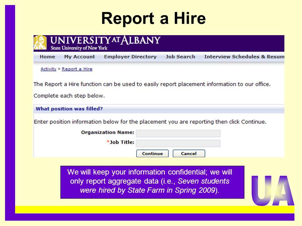 Report a Hire.........................................