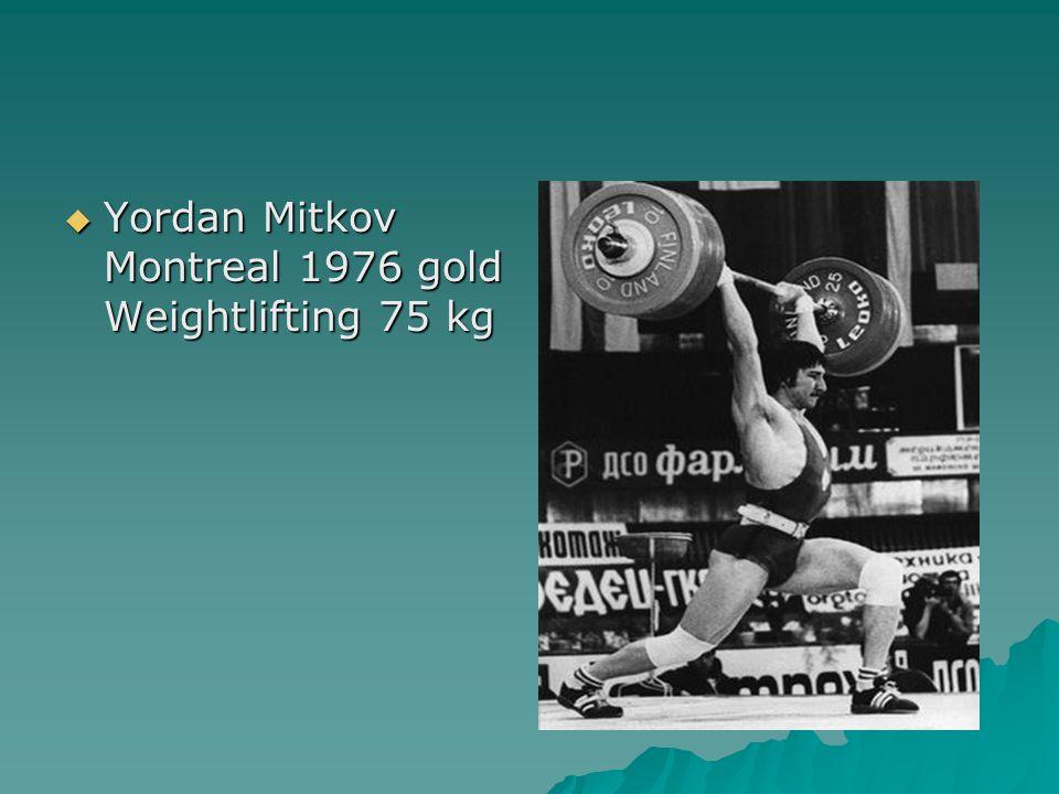  Yordan Mitkov Montreal 1976 gold Weightlifting 75 kg