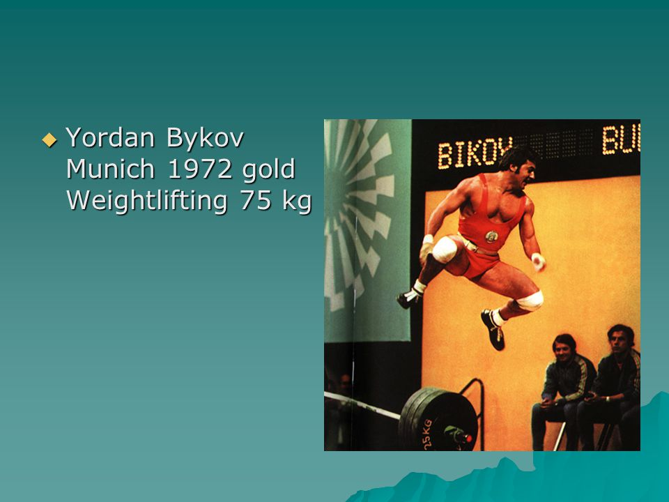  Yordan Bykov Munich 1972 gold Weightlifting 75 kg