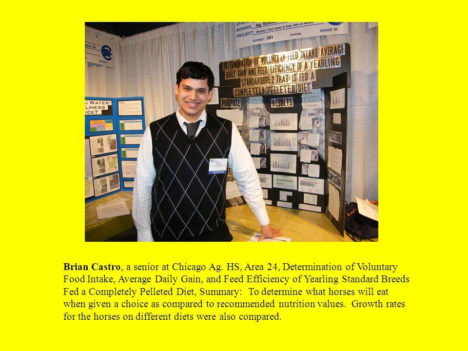 Brian Castro, a senior at Chicago Ag.