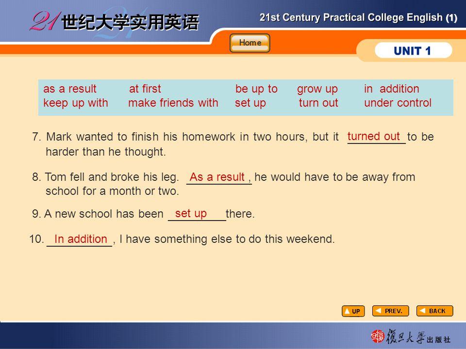 (1) Vocabulary-Fill in2-3 7.