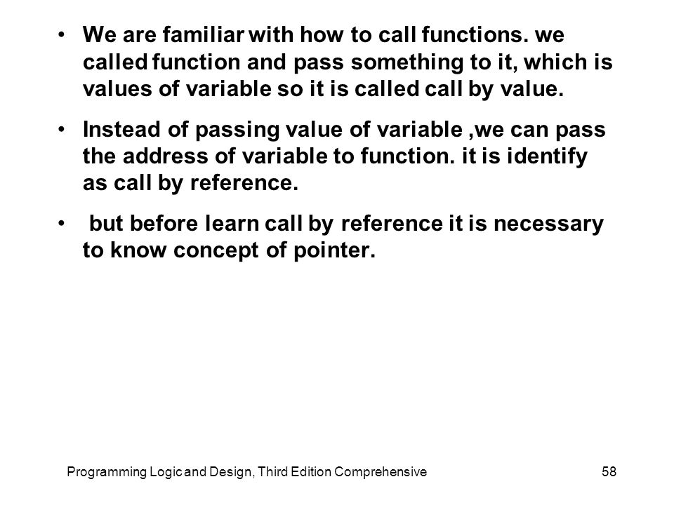We are familiar with how to call functions.
