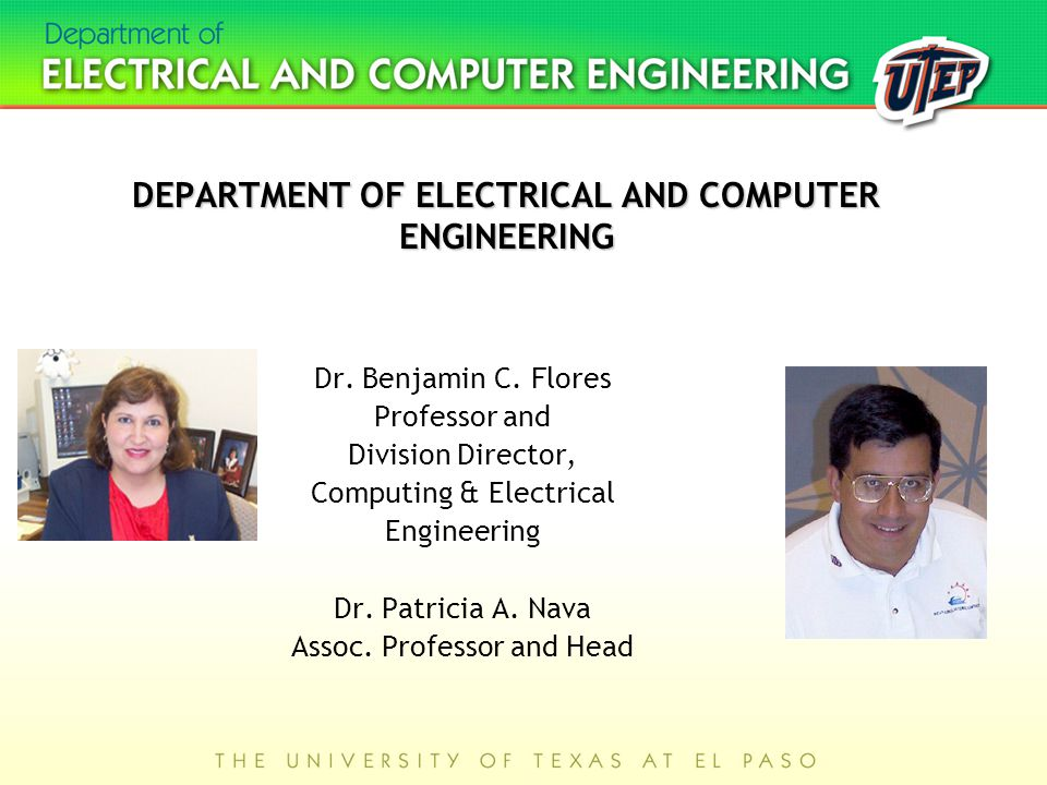 DEPARTMENT OF ELECTRICAL AND COMPUTER ENGINEERING Dr.