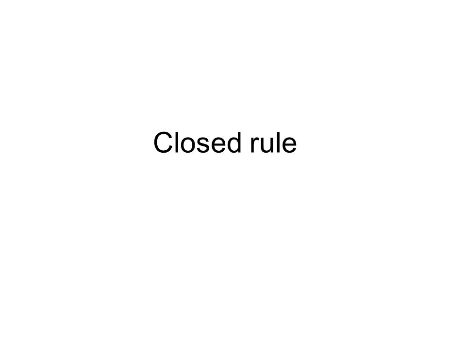 A rule granted by the House Rules Committee that prohibits amendments to a particular bill during House floor action.