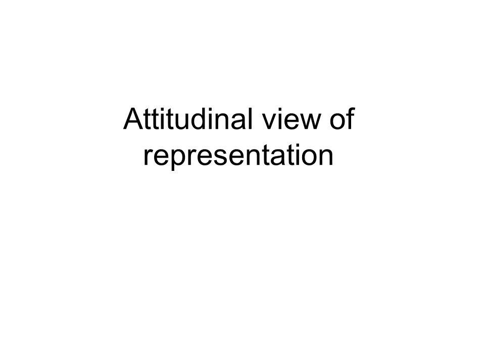 Attitudinal view of representation