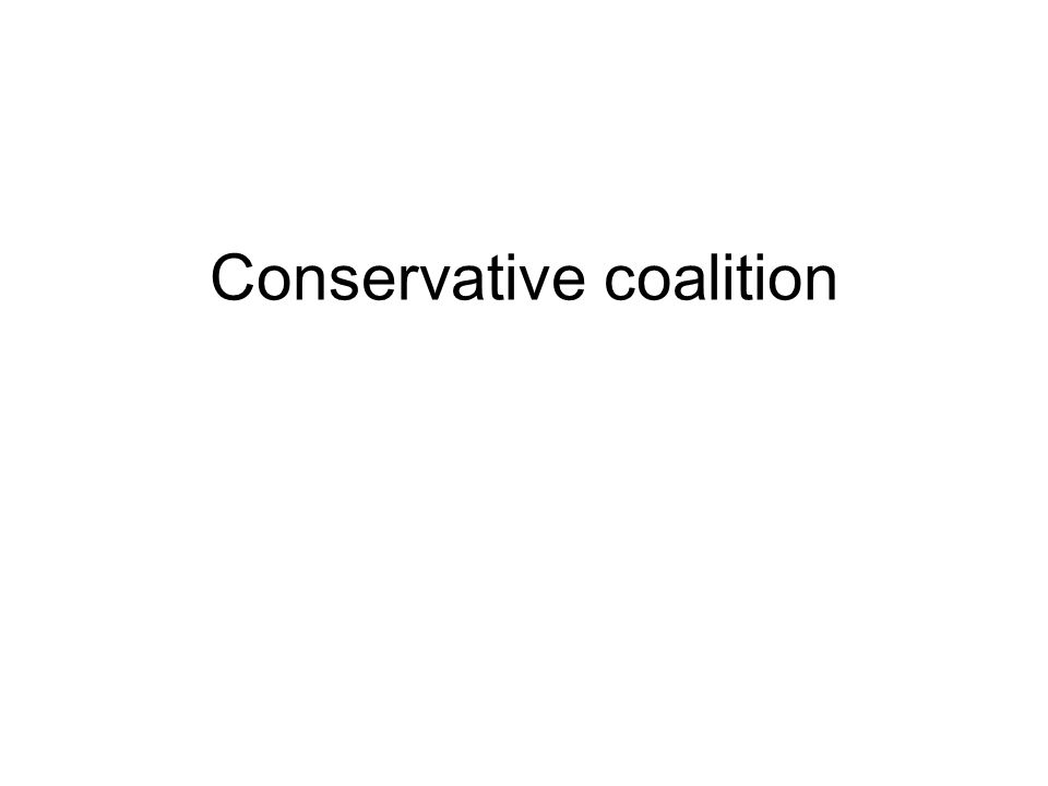 A coalition in American politics bringing together Republicans (most of whom were conservatives ) and the minority of conservative Democrats, most of them from the South.