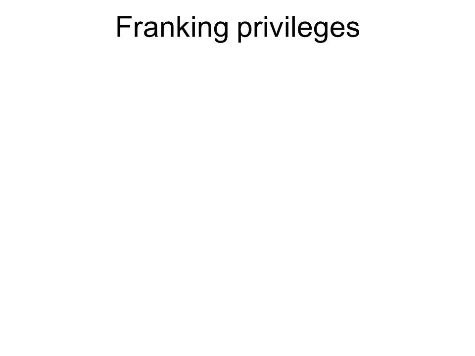 Franking privileges