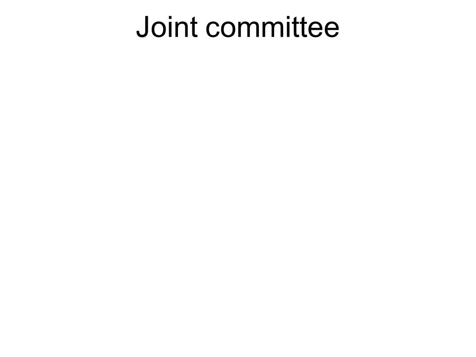 A committee comprised of both members of the House and Senate.