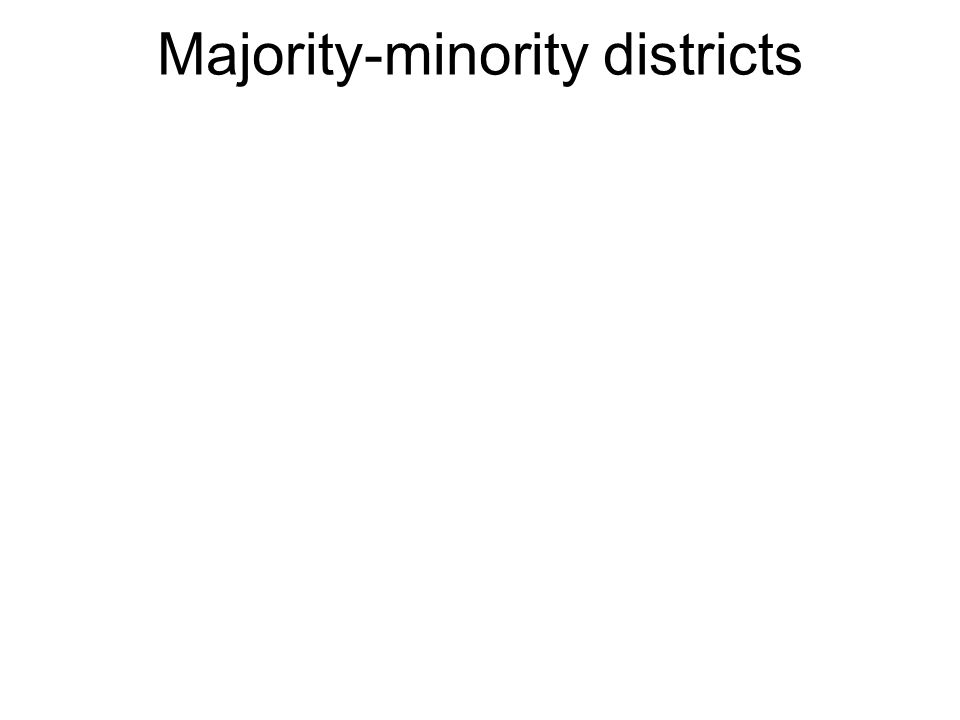 Districts with a majority of residents who are part of an ethnic minority.