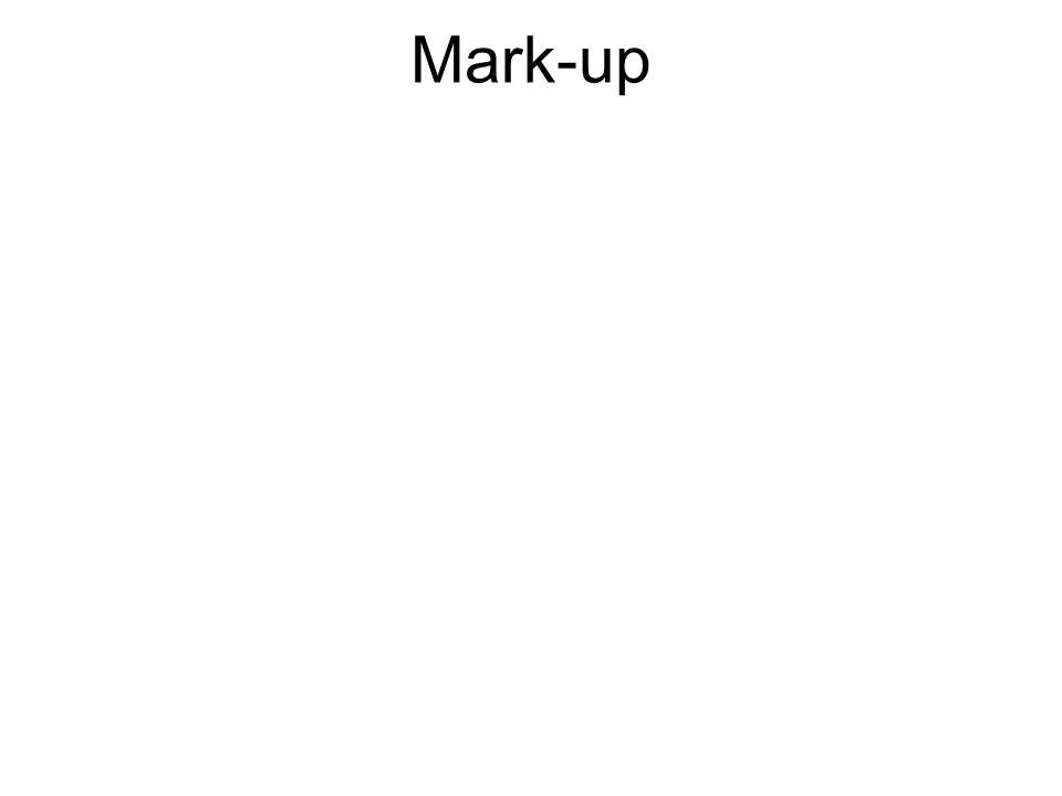 Mark-up