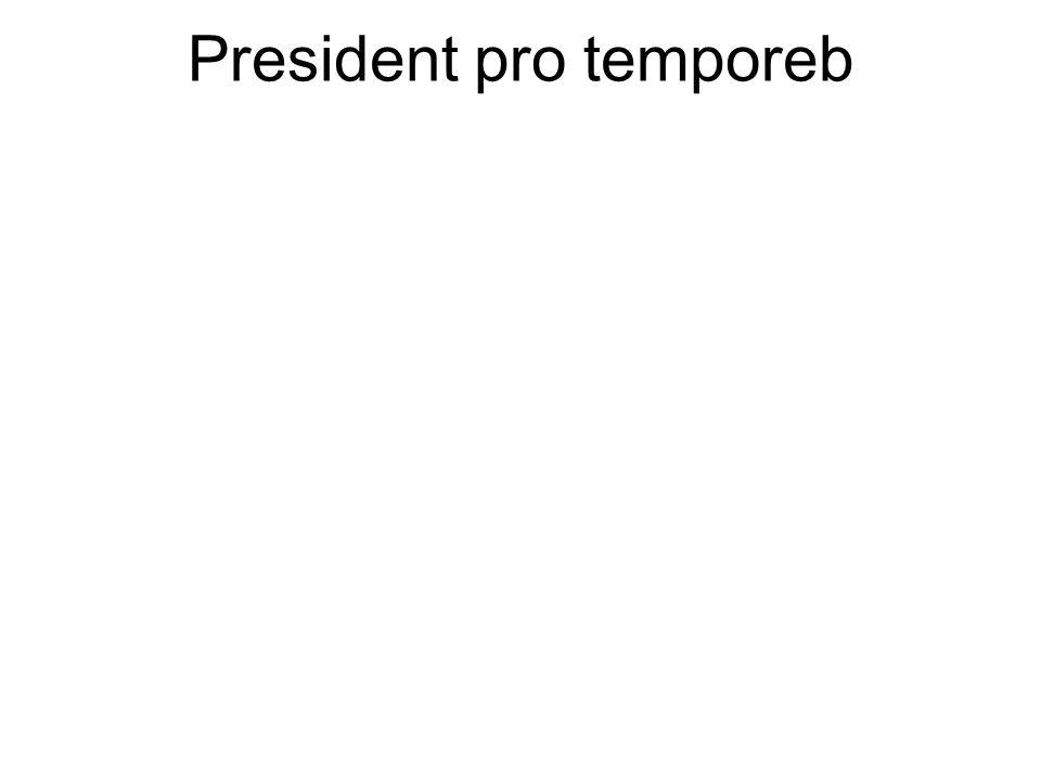 President pro temporeb