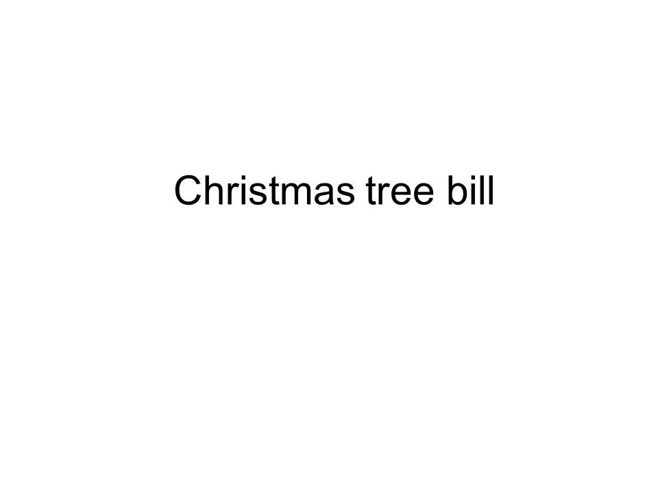 Christmas tree bill