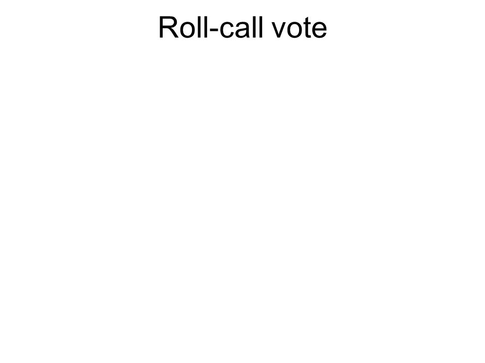 Roll-call vote