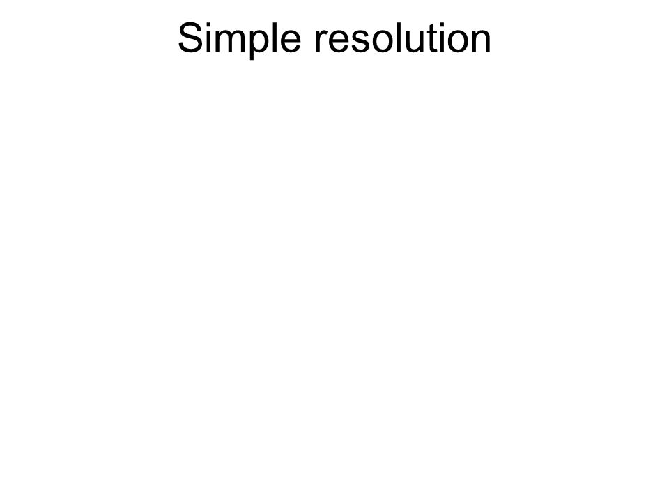Simple resolution