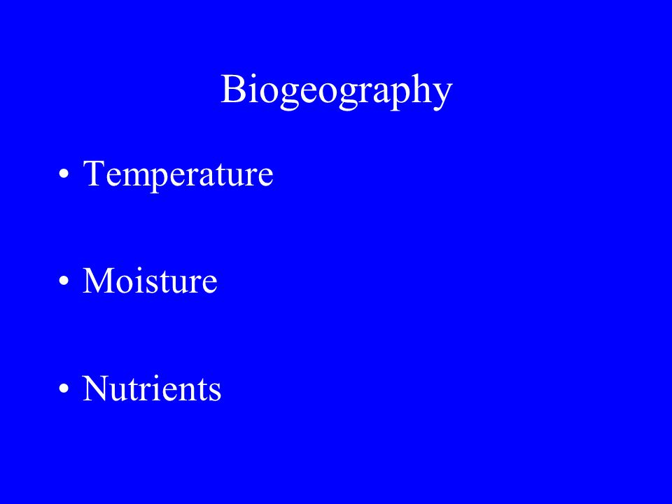 Biogeography The distribution and abundance of organisms on a broad geographic scale.