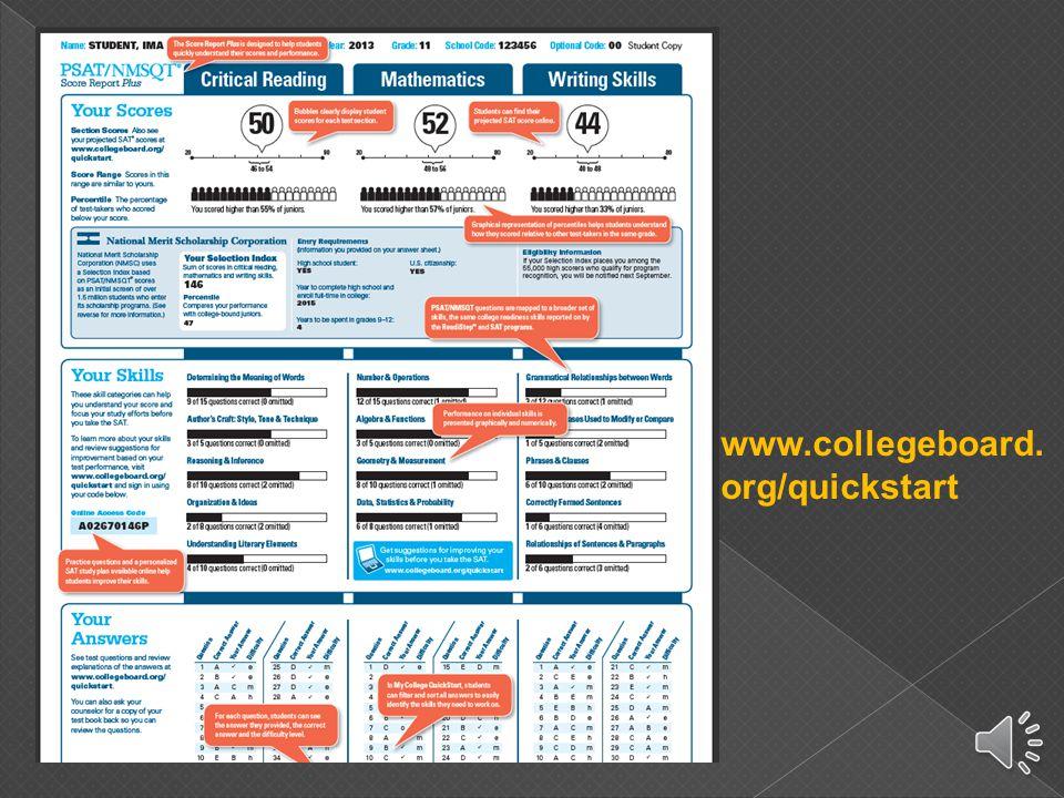 www.collegeboard. org/quickstart