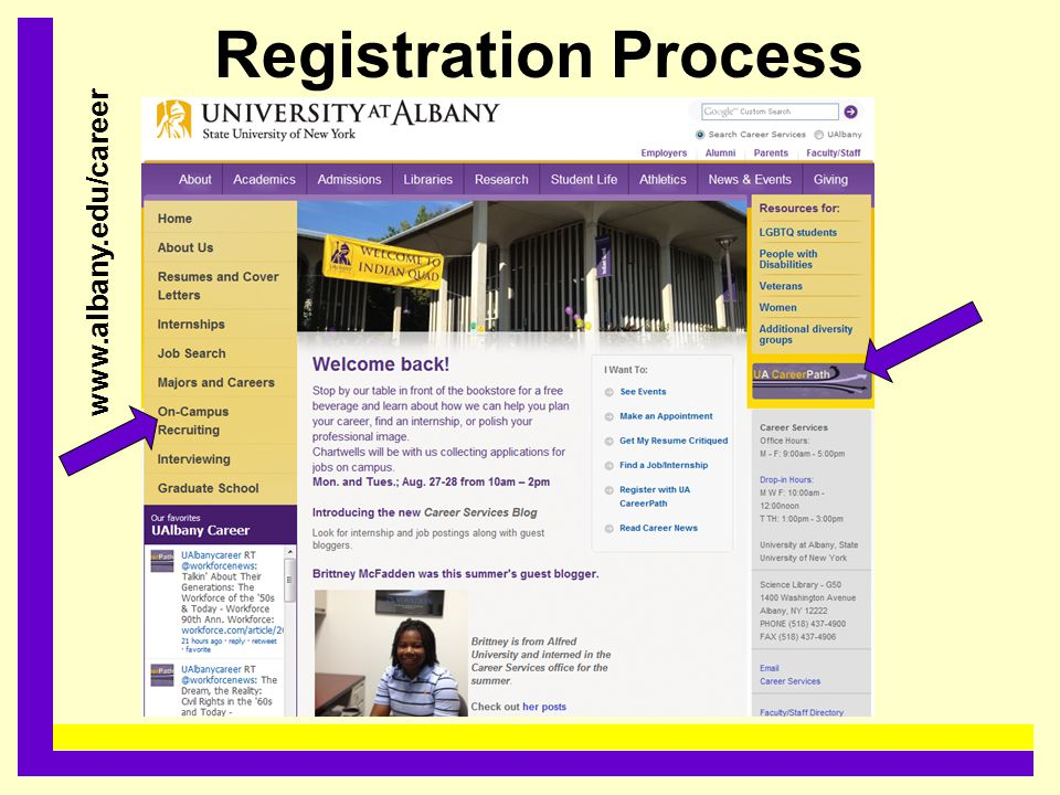 Registration Process......................................... www.albany.edu/career