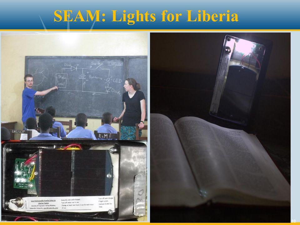 32 SEAM: Lights for Liberia