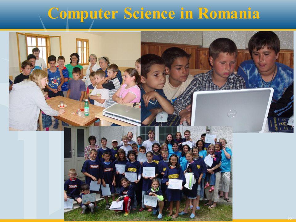 35 Computer Science in Romania