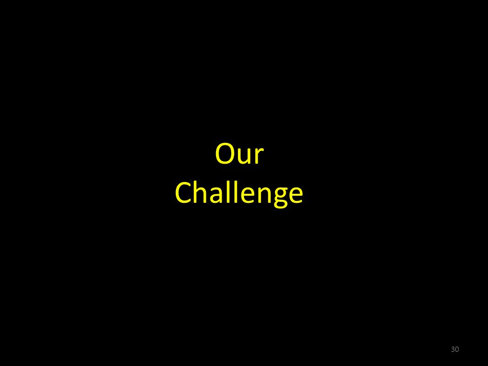 Our Challenge 30