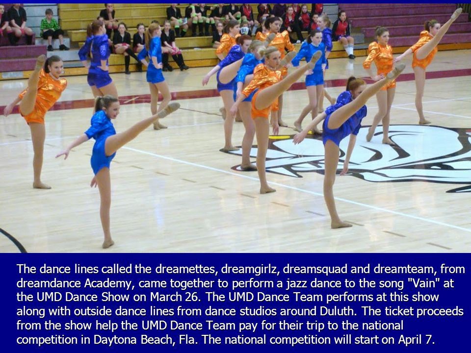 The dance lines called the dreamettes, dreamgirlz, dreamsquad and dreamteam, from dreamdance Academy, came together to perform a jazz dance to the son