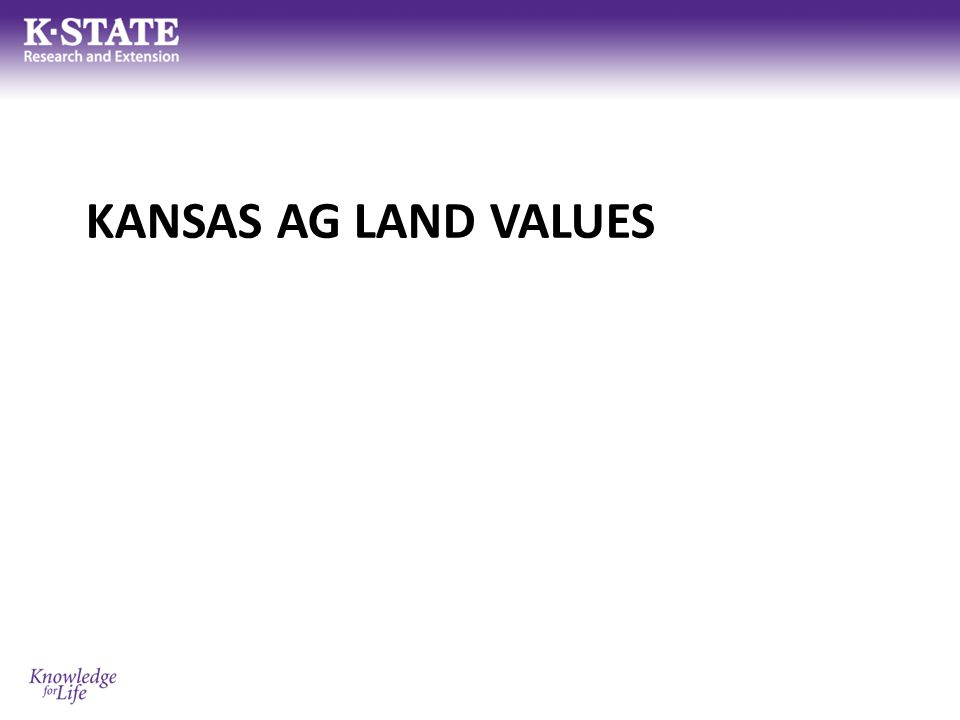 Kansas Land Values Where do we get information on land values.