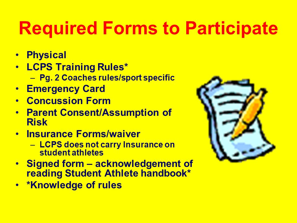 LCPS Athletic Fee Starting in Fall 2009, all students participating in a LCPS athletic program will be required to pay a $100 Athletic Fee.