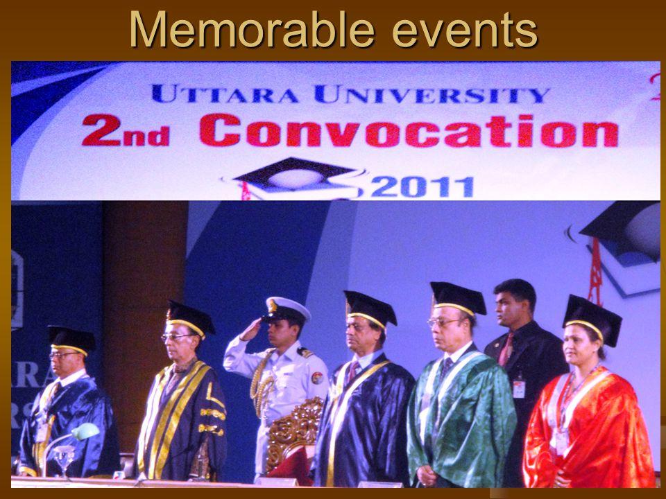 Our Achievements Memorable events
