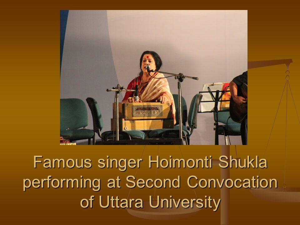 Famous singer Hoimonti Shukla performing at Second Convocation of Uttara University