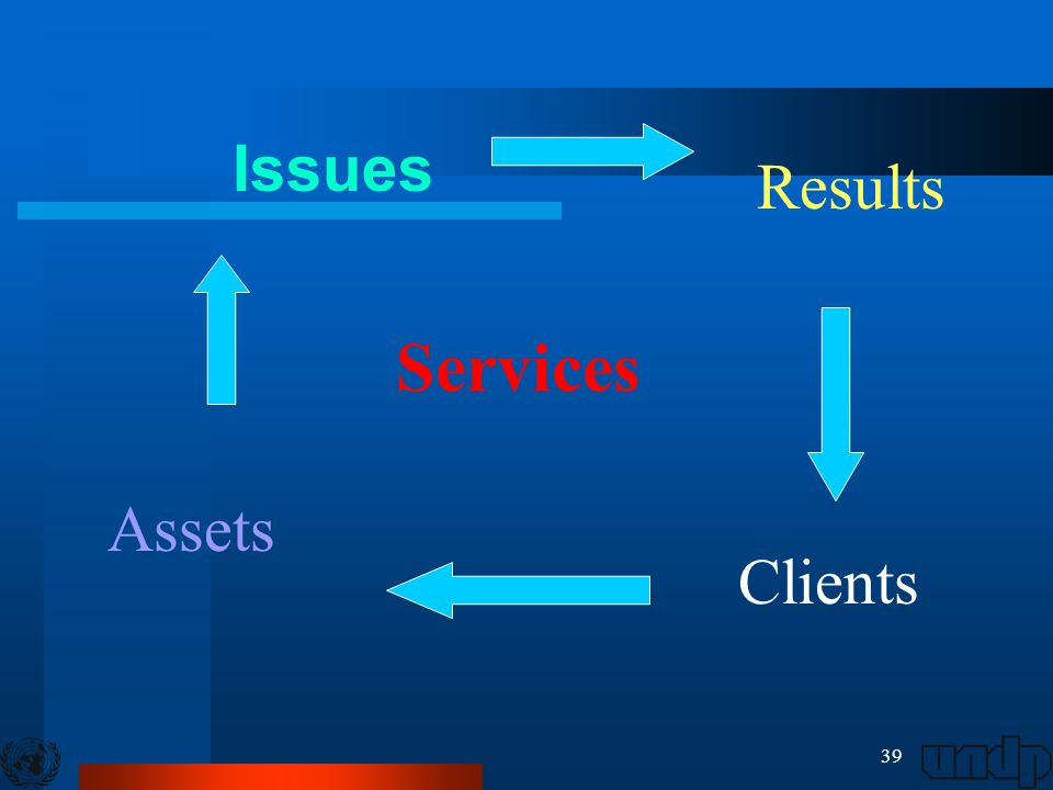 39 Issues Services Results Clients Assets