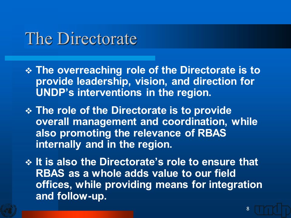 9 Directorate Focal Points Dr.