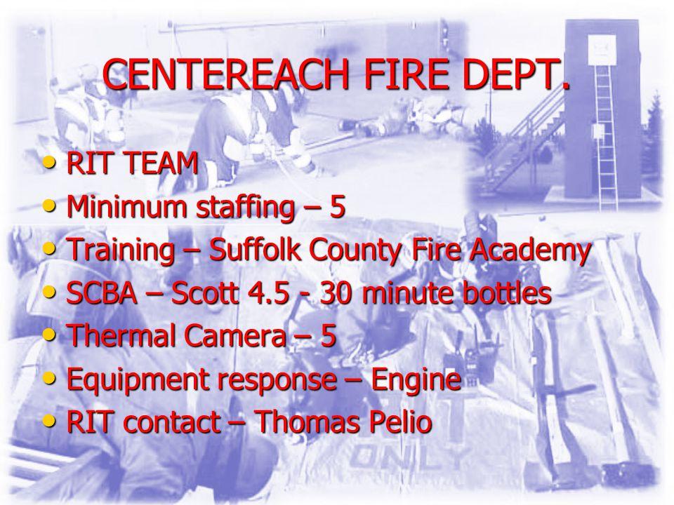 CENTEREACH FIRE DEPT.