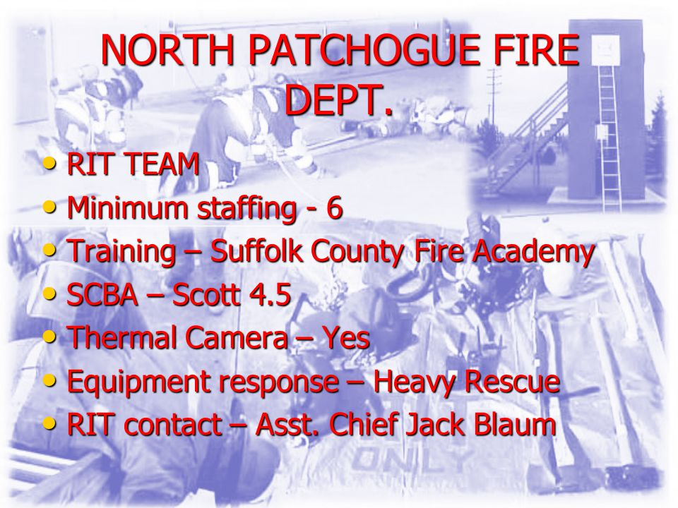 NORTH PATCHOGUE FIRE DEPT.