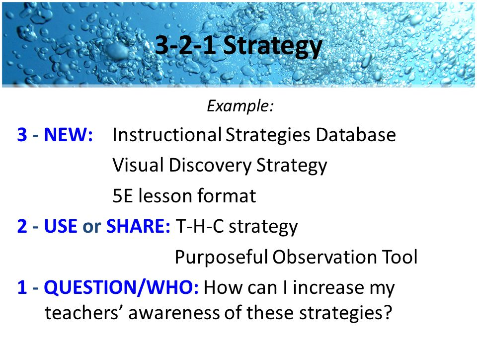 3-2-1 Strategy Focusing on Student Engagement, each participant should complete a 3-2-1 reflection: 3 - NEW ideas you learned about student engagement 2 - Ideas you would like to USE or SHARE with staff and/or students 1 - QUESTION you still have and who you might contact to find out the answer