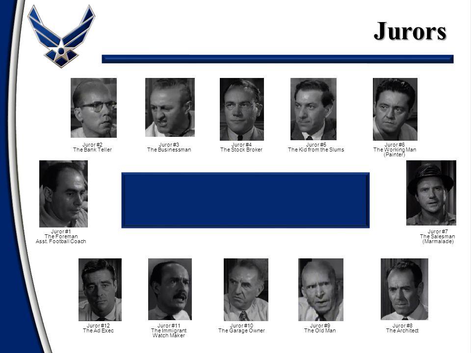 Jurors Juror #1 The Foreman Asst.
