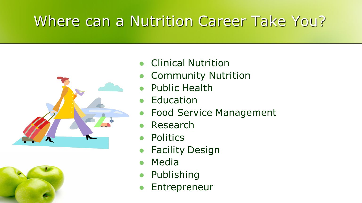 Where can a Nutrition Career Take You.