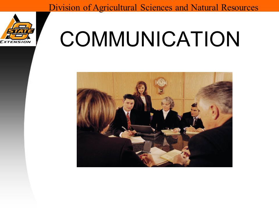 Division of Agricultural Sciences and Natural Resources COMMUNICATION