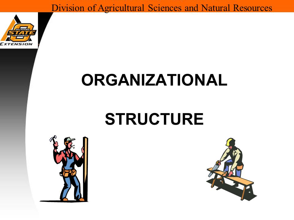 Division of Agricultural Sciences and Natural Resources ORGANIZATIONAL STRUCTURE