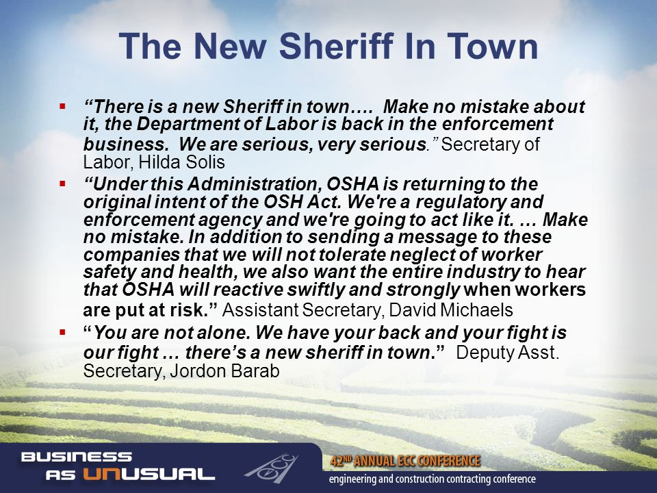 The New Sheriff In Town  There is a new Sheriff in town….
