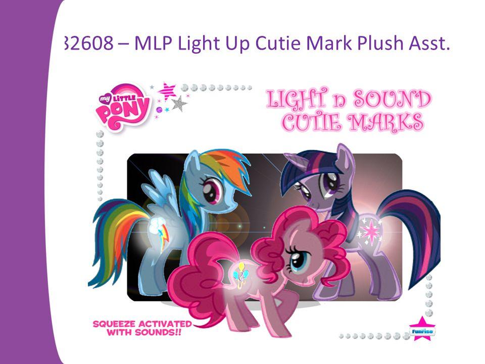 82608 – MLP Light Up Cutie Mark Plush Asst.