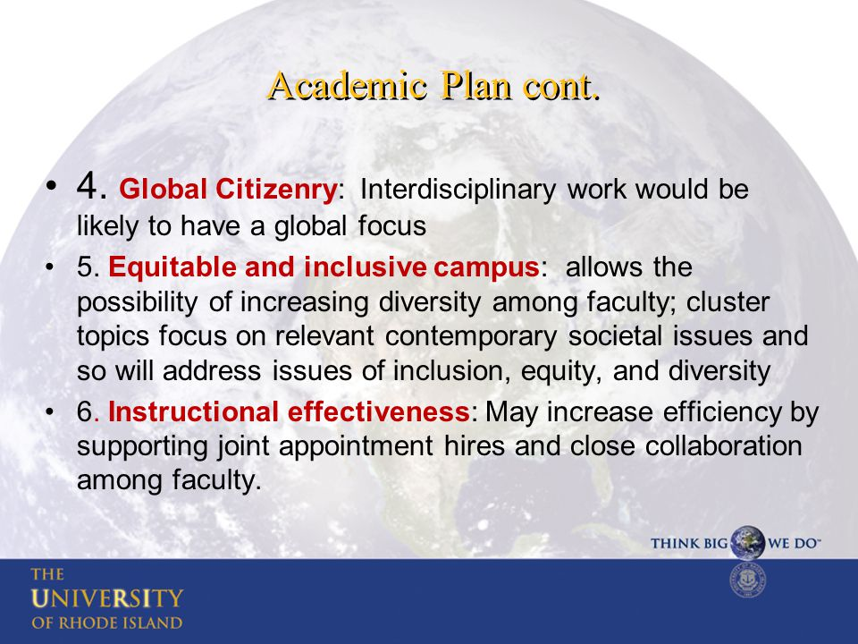 Academic Plan cont. 4.