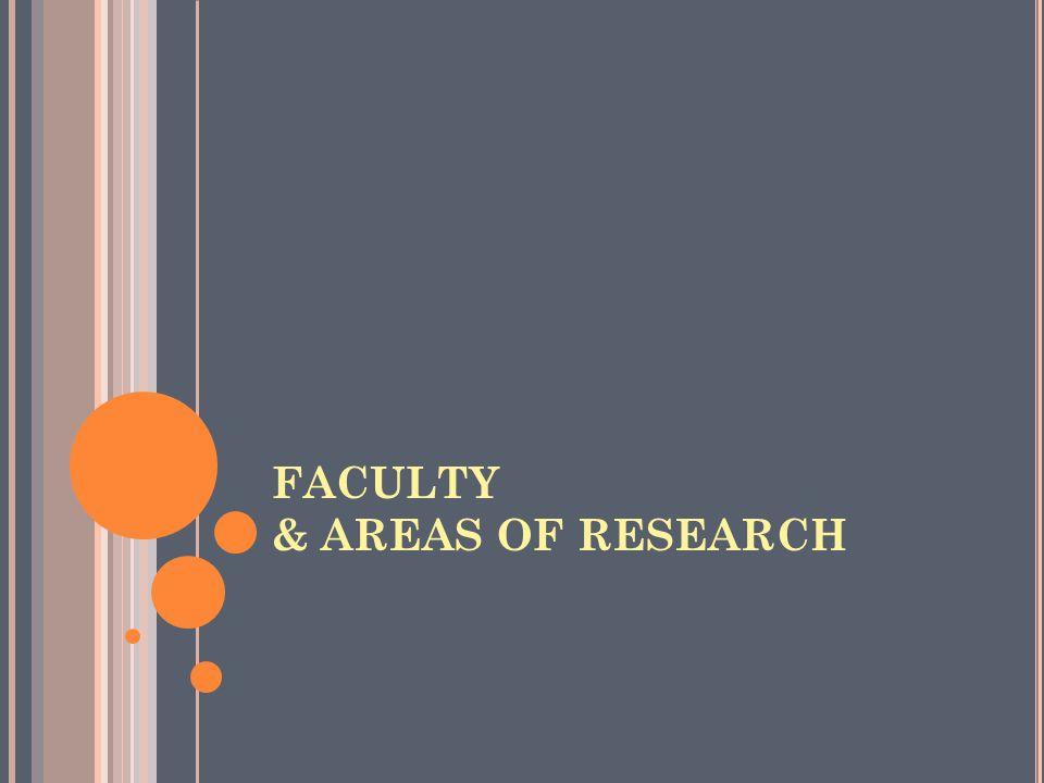 NameDesignationArea of Research Dr.P.S. Sathidevi Prof.